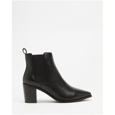 Atmos&Here Women Sorla Leather Ankle Boots Black Leather The Best Brand MDWRPTB
