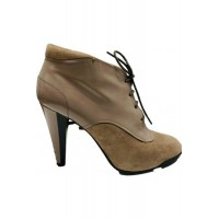 Women Tod's Lace up boots Beige Suede Near Me EMNX1364