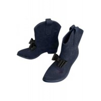 Women Vivienne Westwood Anglomania Western boots Blue Plastic Wide fit On Line XIBI5898