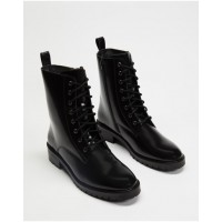 Atmos&Here Women Janie Leather Ankle Boots Black Box Leather Trends TYLUKDB