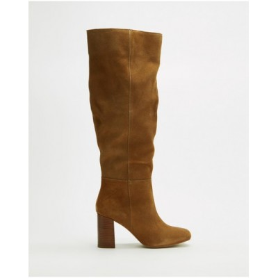Atmos&Here Women Joplin Leather Boots Sand Suede WUGTIVY