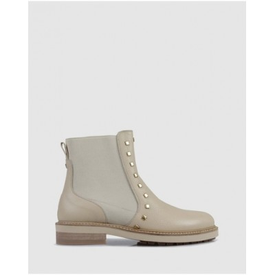 Beau Coops Women Pasteur Ankle Boots Beige New Look CBTJULG