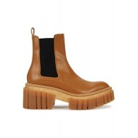 Women Stella McCartney Emilie 75 faux leather Chelsea boots Brown Leather GDZC1822