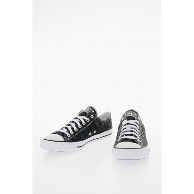 Women ALL STAR All Over Logo Fabric Sneakers Converse for work QZOS481