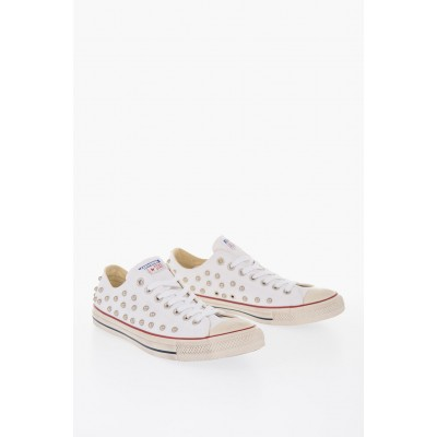 Women ALL STAR Fabric Studded Sneakers Converse wholesale WVKW284
