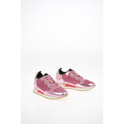 Women Fabric and Leather BRIGHT Sneakers Philippe Model Paris deals VDRR453