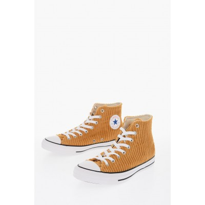 Women ALL STAR Corduroy High-Top Sneakers Converse Wide For Sale RZAA654