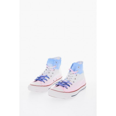 Women ALL STAR Tie Dye Effect High-Top Sneakers Converse for work Casual KNOI777