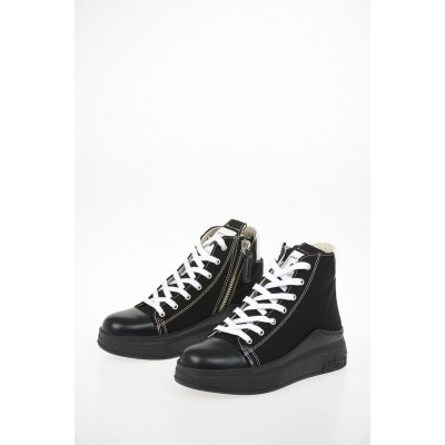 Women Canvas ARAIA 74 High Top Sneakers Cinzia Araia extra wide Fitted IRTF252