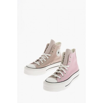 Women CHUCK TAYLOR ALL STAR leather High-top Sneakers Converse Clearance JFVN823