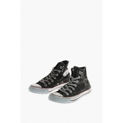 Women CHUCK TAYLOR ALL STAR vintage effect fabric High-top Sneakers Converse Fashion TVZK639