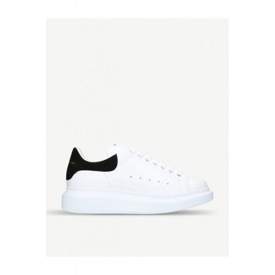 Women Alexander McQueen And Runway Platform Sneakers Black / White Leather size 11 Trends SEPD8035