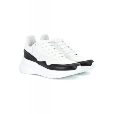 Women Alexander McQueen Leather platform sneakers White Leather New Arrival FMMS865