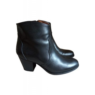 Women André André Leather western boots Black Leather size 4.5 Trends 2021 QWJP7899