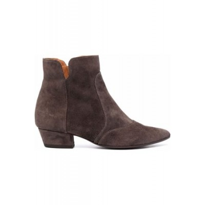 Women Chie Mihara Rocel suede Western-style boots - Grey Gray Leather Wide boutique TDPC5729