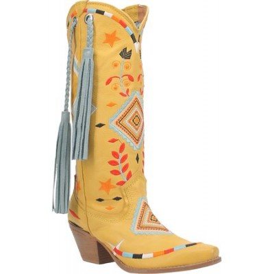 Women Dingo Women's Toma Fringe Western Boot Yellow size 5.5 outlet JHQO743