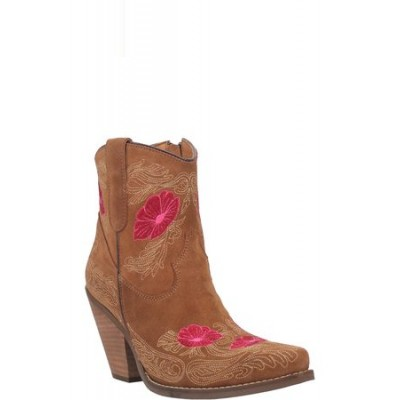 Women Dingo Women's Tootsie Embroidered Western Boot Brown size 7.5 boutique LZNJ2390