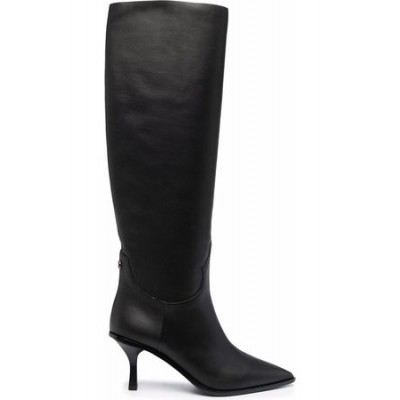 Women Casadei Knee-high leather boots Black size 11 For Sale OYQK9287