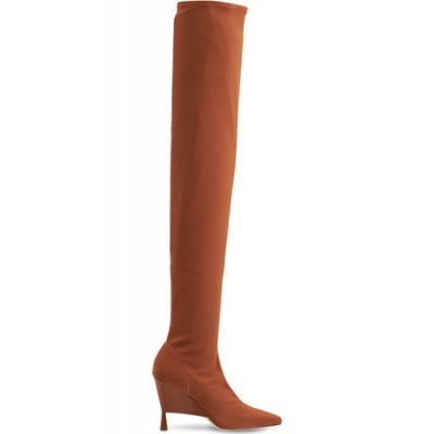 Women GIA 100mm Rosie 9 Stretch Over-the-knee Boot Brown Leather size 6 comfortable YYAI6461