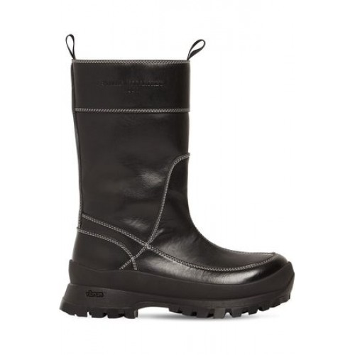 Women Stella McCartney 30mm In The Rain Faux Leather Boots Black Leather for sale near me SBIX1715