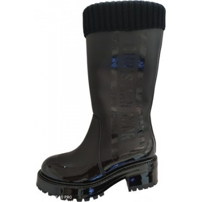 Women Dior Leather snow boots Black Leather size 11 RZNK5339