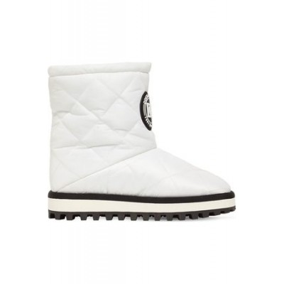 Women Dolce & Gabbana 10mm City Quilted Nylon Snow Boots White Nylon online shopping FMYD9536
