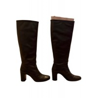 Women Rouje Fall Winter 2019 leather riding boots Black Leather Trend WQSU6231