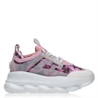 VERSACE Chain Reaction Mesh Sneakers - Women Trainers - Slip On Trainers TPJL796