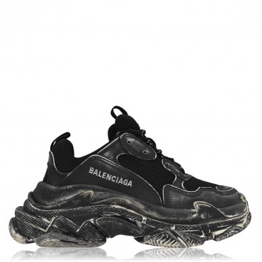 BALENCIAGA Triple S Distressed Trainers - Women Trainers - Chunky Trainers ADXV164